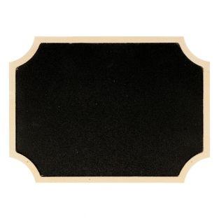 Label blackboard with wooden border...