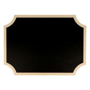 Pizarra negra etiqueta con borde de...