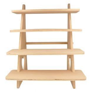 Espositore in legno con 4 ripiani 38...