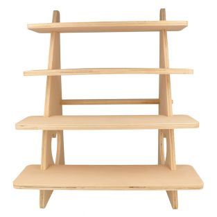 Wooden display with 4 shelves 38 x 32...