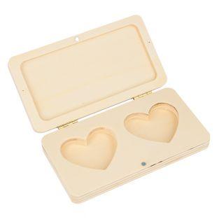 Double wedding ring box 13 x 7 x 2 cm