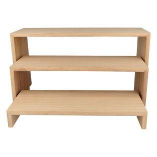 3 étagères escalier en bois 18 x 35 cm