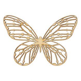 4 décorations en bois Papillons