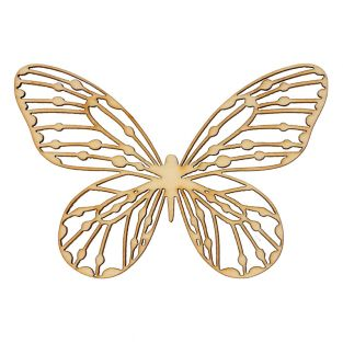 4 Holzdekorationen Schmetterlinge