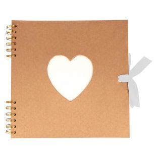 Recycled kraft Heart album 40 blank...