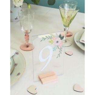 5 piatti in plexiglass trasparente 10...