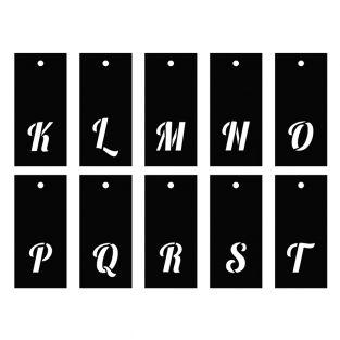 Pochoirs alphabet 70 motifs - lettre...