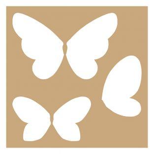 2 pochoirs Kraft Papillons 20 x 20 cm