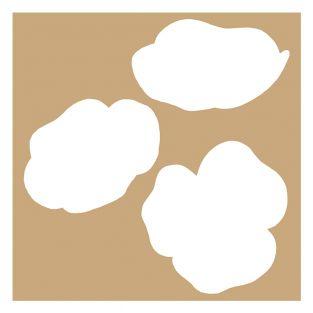 2 schablonen 20 x 20 cm - Mohnblumen