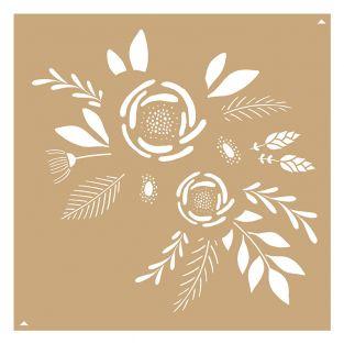 2 stencil Kraft I love you 20 x 20 cm