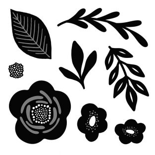 Stanzschablonen - Blumen und Pflanzen