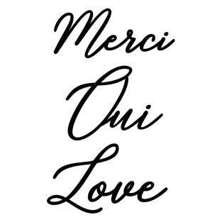 Stanzschablonen - Worte Merci-Oui-Love