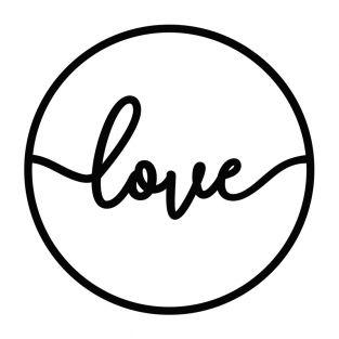 Stanzschablonen - Kreis Love