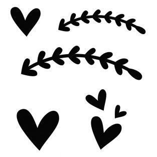 Stencil da taglio - Cuori primaverili