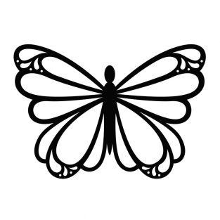 Stencil da taglio - Farfalla tonda