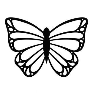 Stencil da taglio - Farfalla pizzo