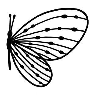 Stencil da taglio - Farfalla di profilo