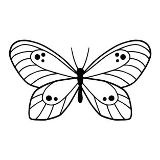 Stencil da taglio - Perline e farfalla