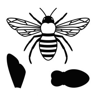 Cutting and embossing die - bee