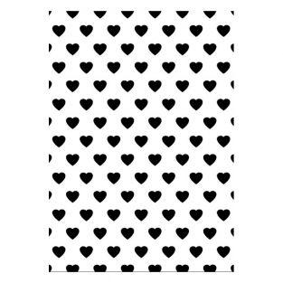Plaque d'embossage fond cœurs