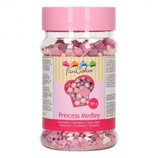 Décors sucrés rose à paillettes 180 g...