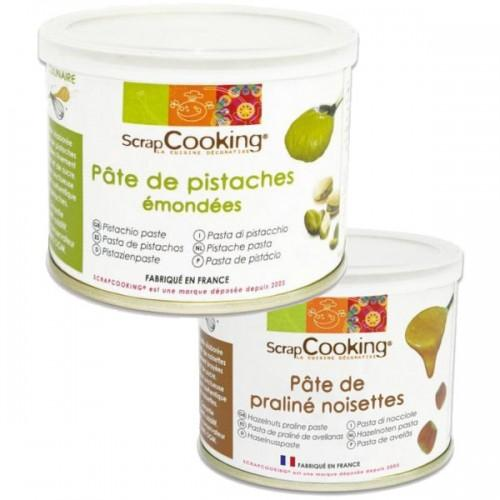 Pistachio paste 200 g + Hazelnuts praline paste 200 g