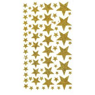 Glitter Stars stickers - Golden