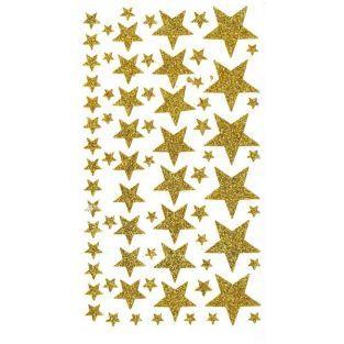 Sterne-Glitter Stickers - Gold