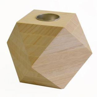 Wooden candle stand - Diamond