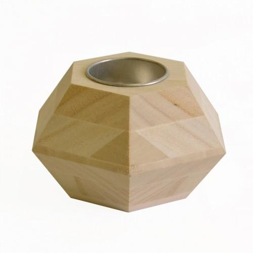 Wooden candle stand - Hexagon