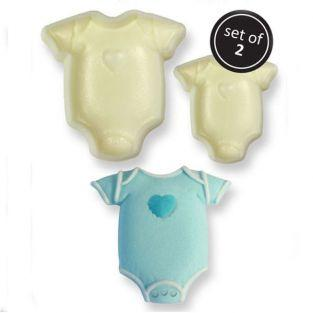 Moules à gâteaux x 2 - Body de bébé