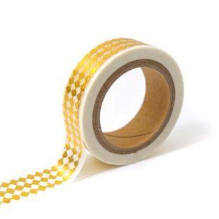 Masking tape blanco con diamantes dorados