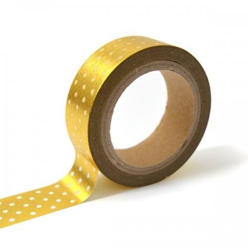 Masking tape - golden with white dots