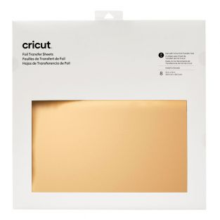 8 gold and white foil transfer sheets...