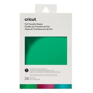 24 foil transfer sheets blue, green,...