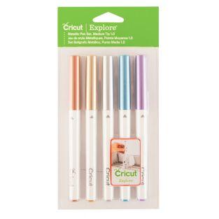 5 bolígrafos metálicos de cobre, oro,...