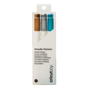 3 metallic markers gold, silver, blue...