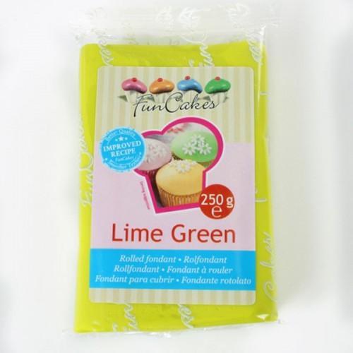 Pâte à sucre vert citron 250 g