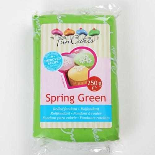 Pâte à sucre vert printemps 250 g