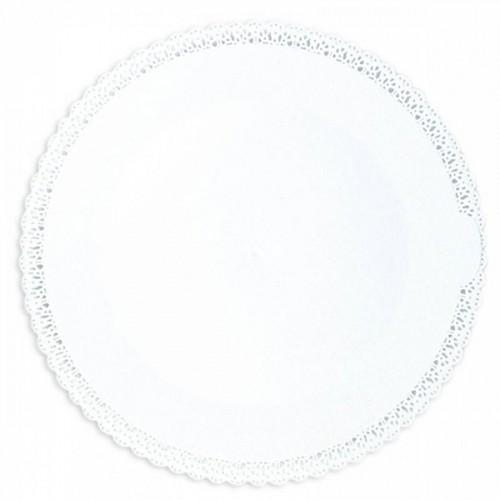 Round lace plate Ø 32 cm - white