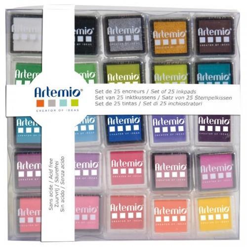 Set of 25 inkpads