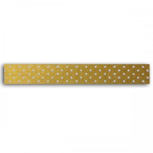 Masking tape dorado con puntos blancos