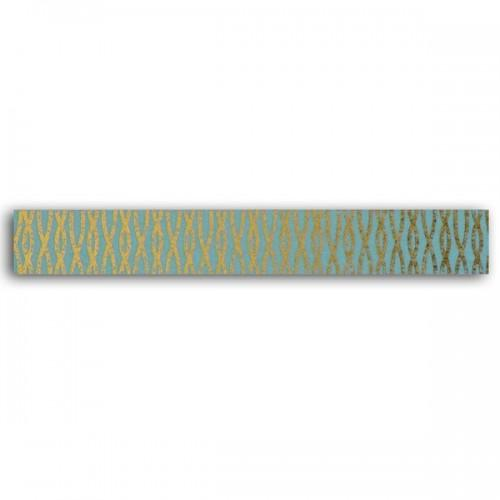 Masking tape - blue with golden interlaced wire