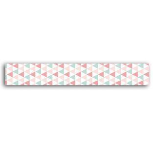 Masking tape con triángulos verdes y rosa