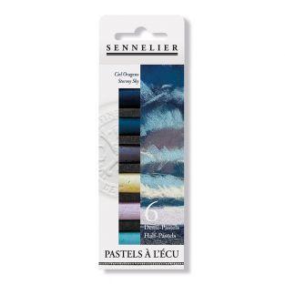 Pastel case - 6 half pastels - Stormy...