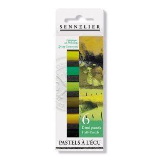 Pastel case - 6 half pastels - Spring...