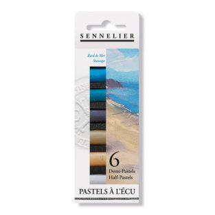 Pastel case - 6 half pastels - Seaside