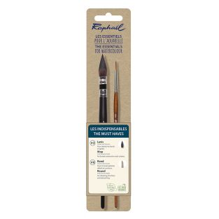 Set of 2 essential watercolour brushes