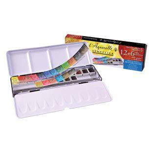 Watercolour metal box - 18...
