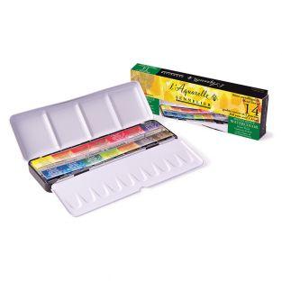 Watercolour metal box - 14 full size...